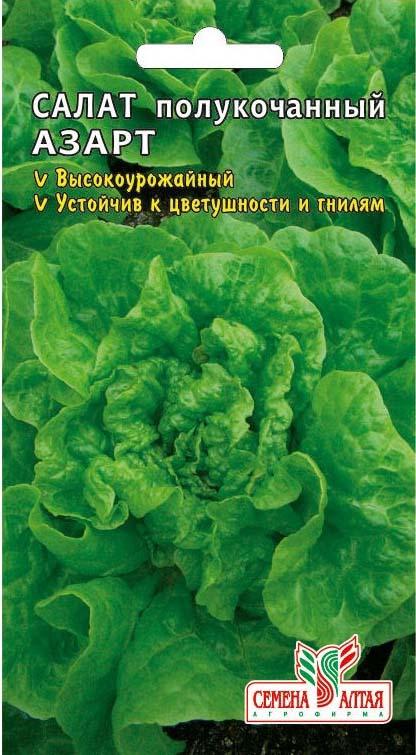 Салат азарт выращивание из семян 48